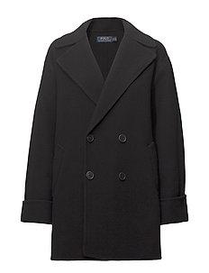 Double-Breasted Merino Coat - POLO BLACK