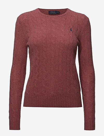 Cable Wool-Cashmere Sweater - trøjer - red slate heather