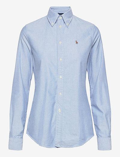 Slim Fit Cotton Oxford Shirt - langærmede skjorter - bsr blue