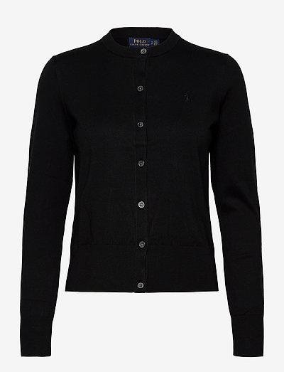 PIMA JSY STRETCH-LSL-SWT - cardigans - polo black