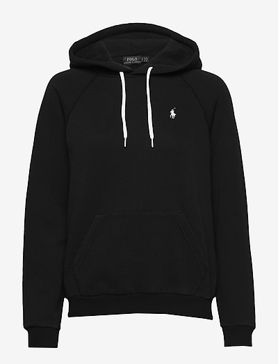 Fleece Pullover Hoodie - džemperi ar kapuci - polo black