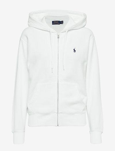 Fleece Full-Zip Hoodie - hættetrøjer - white