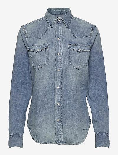 Denim Shirt - denim shirts - light indigo