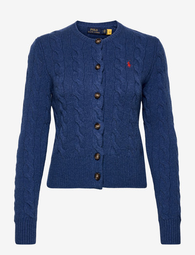 Buttoned Wool-Blend Cardigan - cardigans - aged royal heathe