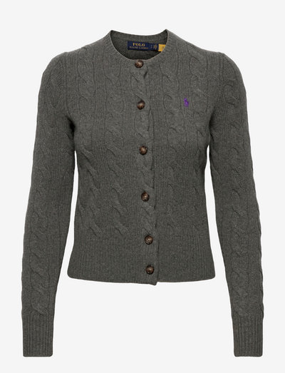 Buttoned Wool-Blend Cardigan - cardigans - antique heather