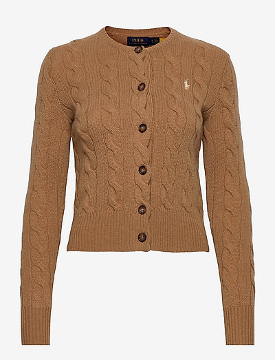 Buttoned Wool-Blend Cardigan - cardigans - collection camel