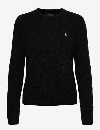 Cable-Knit Crewneck Sweater - trøjer - polo black