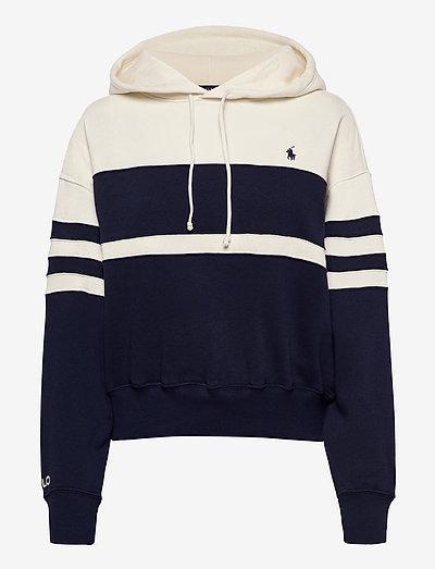 Fleece Striped Hoodie - hoodies - newport navy/nevi