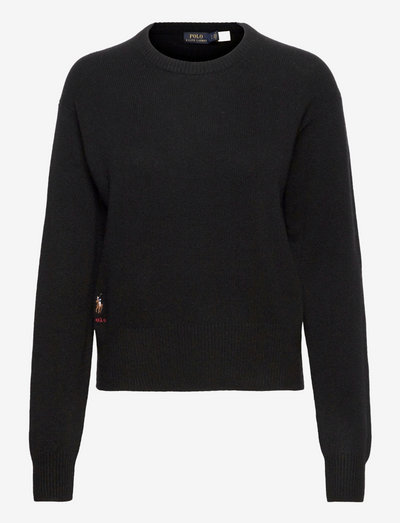 Wool-Blend Crewneck Sweater - trøjer - polo black