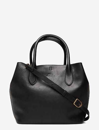 Leather Medium Bellport Tote - shoppere - black