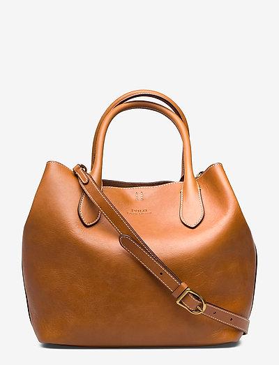 Leather Medium Bellport Tote - shoppere - cuoio