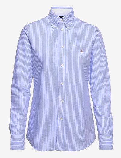 Striped Knit Oxford Shirt - langærmede skjorter - harbor island blue