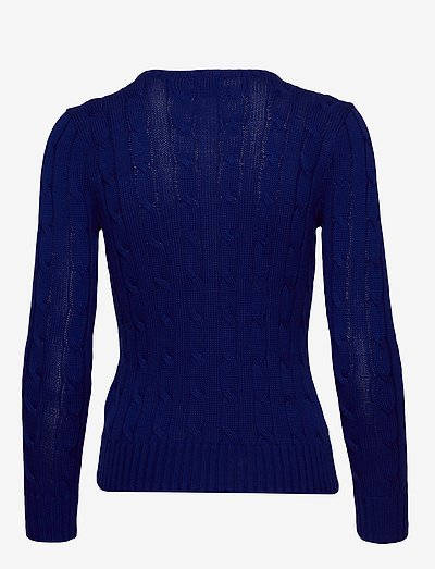 Polo Ralph Lauren Cable-knit Cotton Sweater- Neuleet Fall Royal