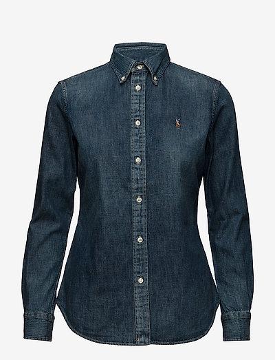 Custom Fit Denim Shirt - denimskjorter - blaine wash