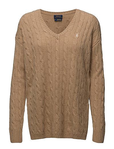 Cable-knit Side-slit Sweater (Camel Melange) (89.40 €) - Polo Ralph Lauren  - Habits tricotés   Boozt.com c0e5a69e5f04