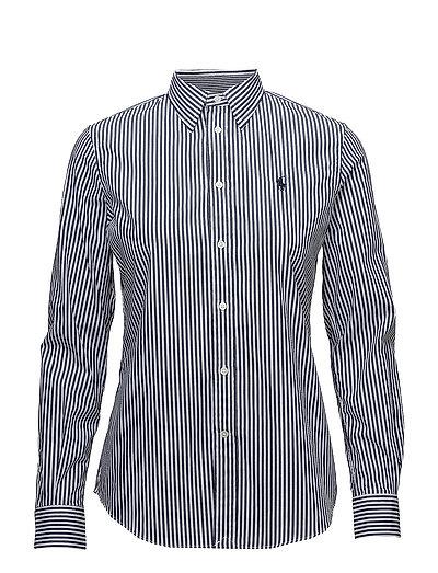 Stretch Slim Striped Shirt - 556F NAVY/WHITE