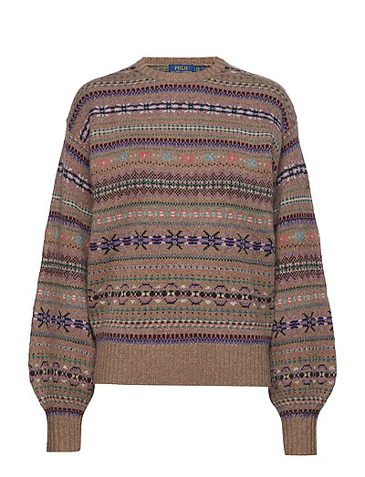 Fair Isle Crewneck Sweater - TAUPE MULTI