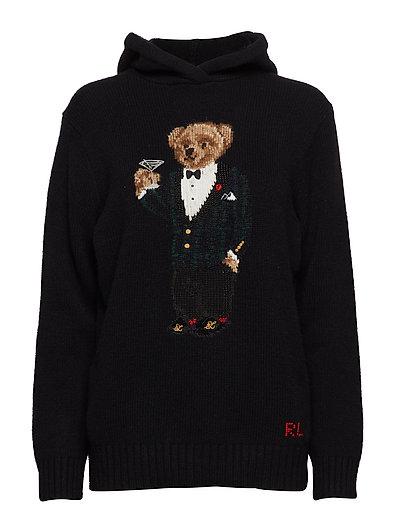 Polo Bear Wool-Blend Hoodie - BLACK MULTI