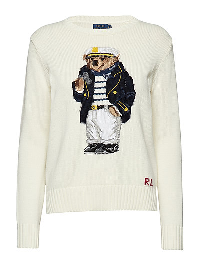 46183587fd8f Polo Bear Cotton Sweater (Cream Multi) (£199.20) - Polo Ralph Lauren ...