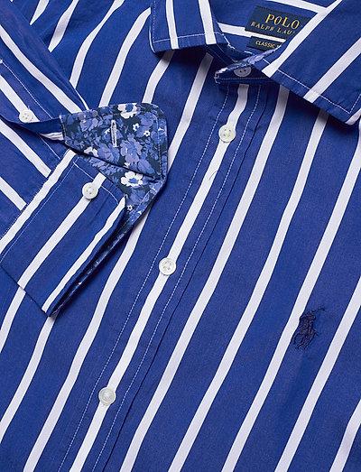 Polo Ralph Lauren Striped Cotton Shirt- Bluzki & Koszule 513 Blue/white