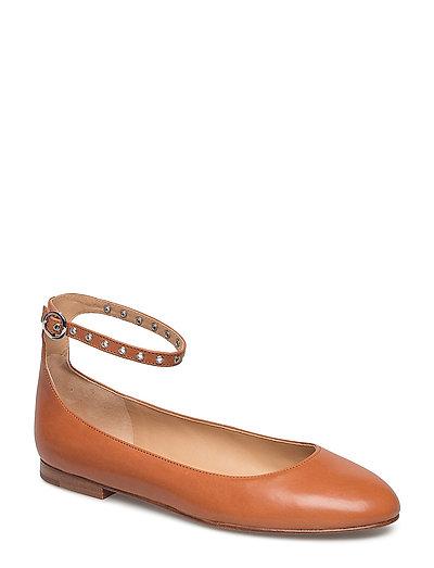Kinsley Leather Ballet Flat - TAN