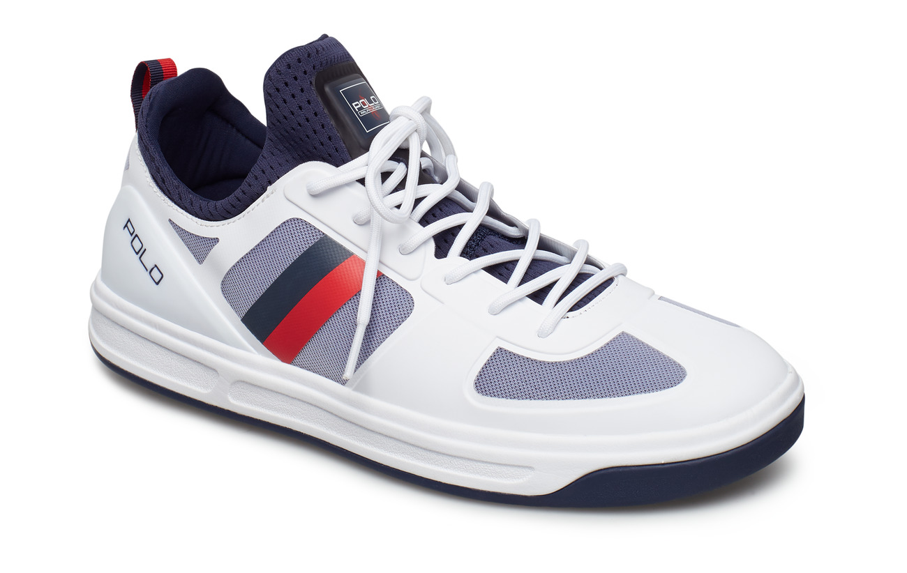 Polo Ralph Lauren Court 200 Mesh Sneaker - PURE WHITE/FRENCH
