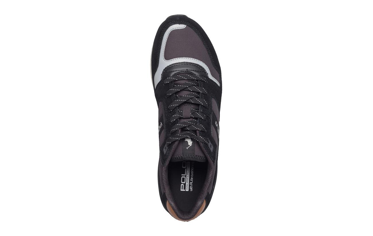 Train mesh Ralph Lauren charcoalPolo Sneakerblack Suede 100 qSVGMpUz