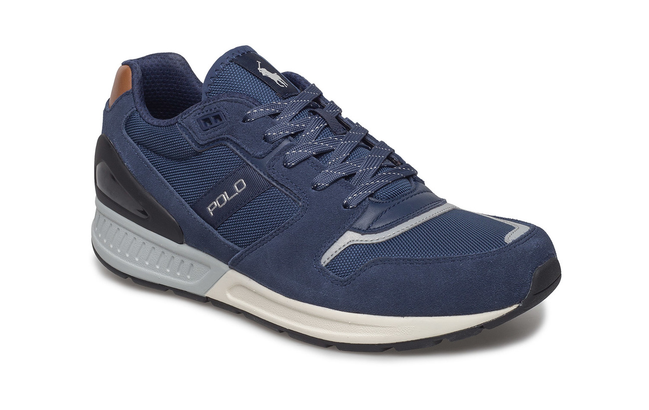 Polo Ralph Lauren Train 100 Suede-Mesh Sneaker - INDIGO/NEWPORT NA