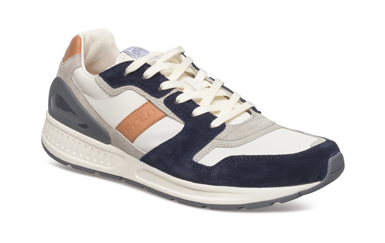 Polo Ralph Lauren Train 100 Suede-Mesh Sneaker