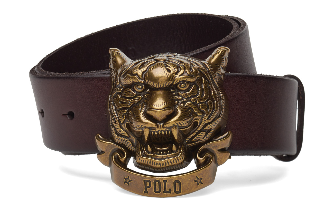 BeltbrownPolo plaque Tiger Ralph Lauren Leather eE9YDWIH2