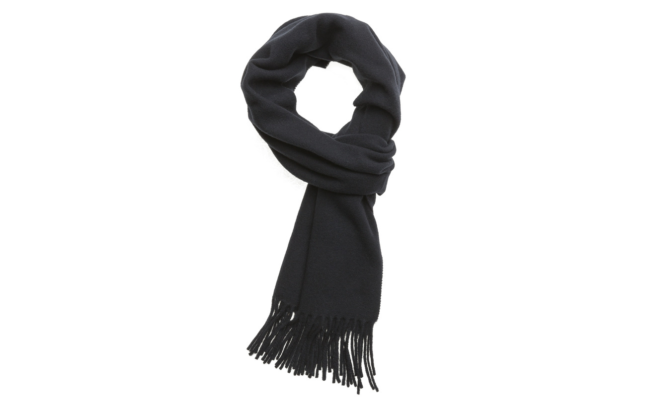 Polo Ralph Lauren Fringed Wool Scarf - HUNTER NAVY