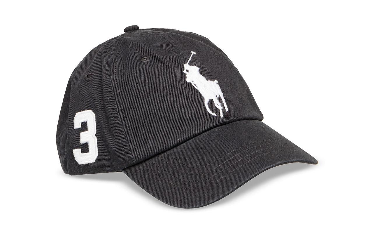 Polo Ralph Lauren Cotton Chino Baseball Cap - RL BLACK