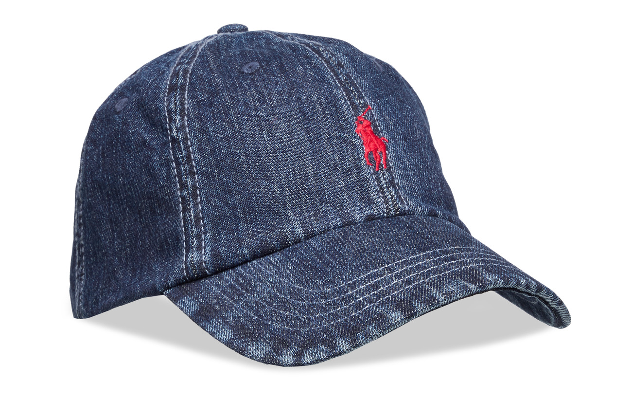 Polo Ralph Lauren Denim Baseball Cap - DARK WASH DENIM W