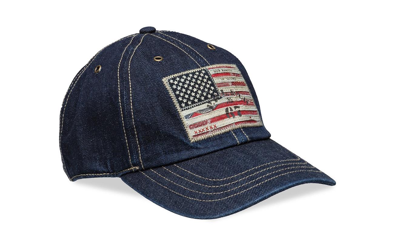 a760e279eb908 Flag Patch Denim Baseball Cap (Rinse Wash) (£35.40) - Polo Ralph ...