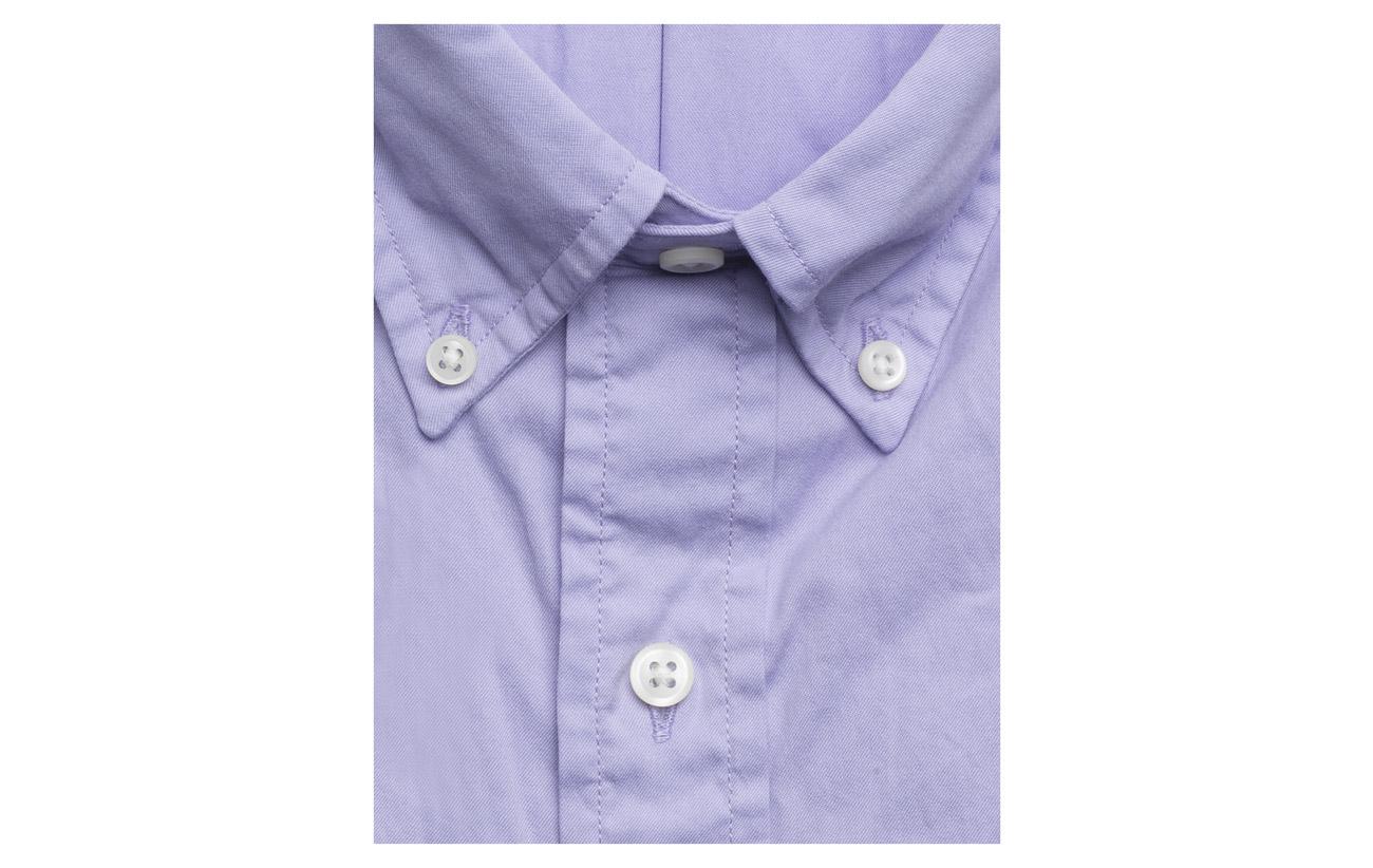 Lauren Shirt Slim Ralph Purple Polo Cotton Twill Fit Powder qSFw5