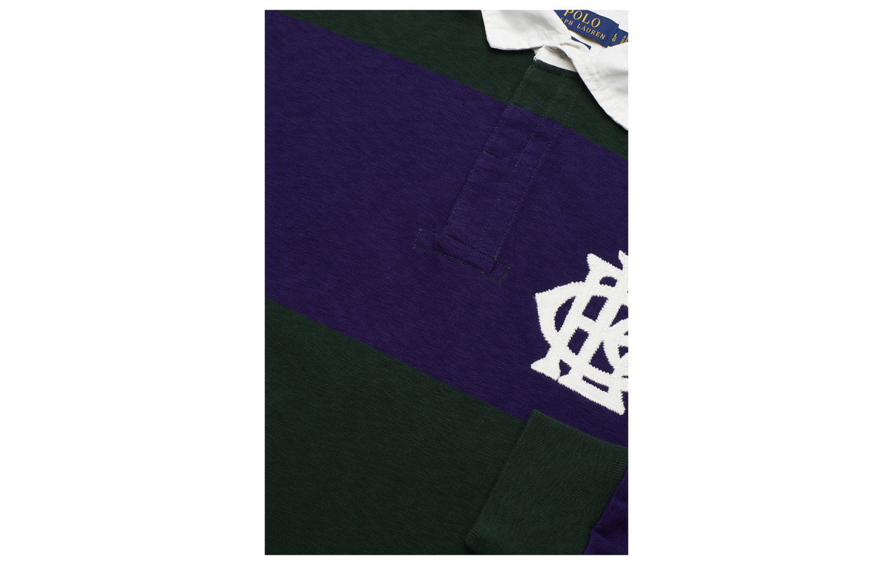 Polo Green Me College Rugby Cotton Lauren Classic Shirt Fit Ralph OwxqvrO