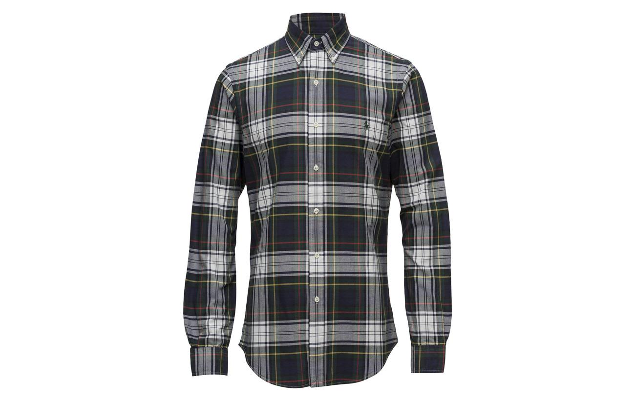 Mu pine Plaid Ralph Fit Slim Navy Polo Lauren Oxford 2905 Shirt PTUqwF