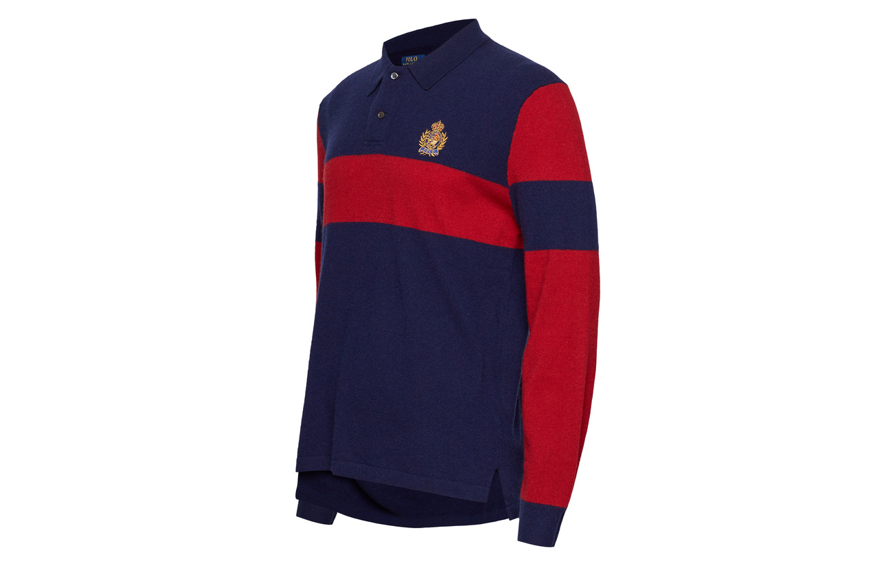 red Cashmere Polo Navy Sweater Washable Ralph Lauren aqw8OxpFR