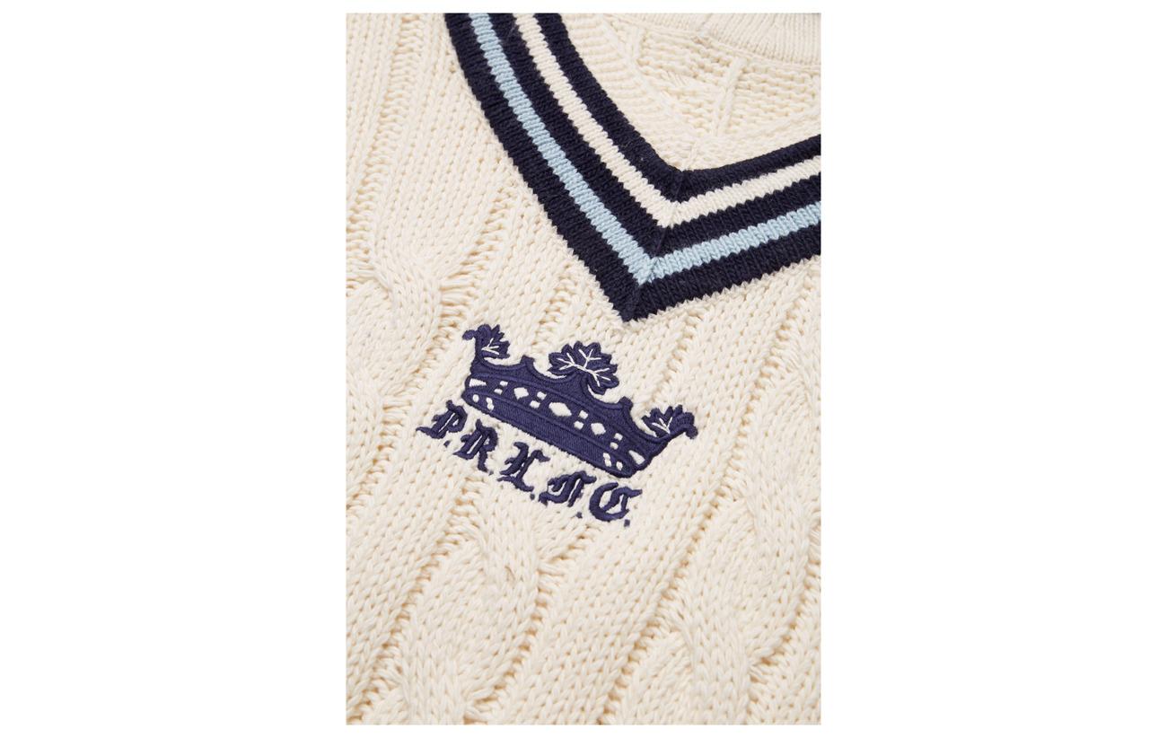 Ralph Sweater Cricket blue Cream blend Cotton navy Lauren Polo ZvXdqfZ