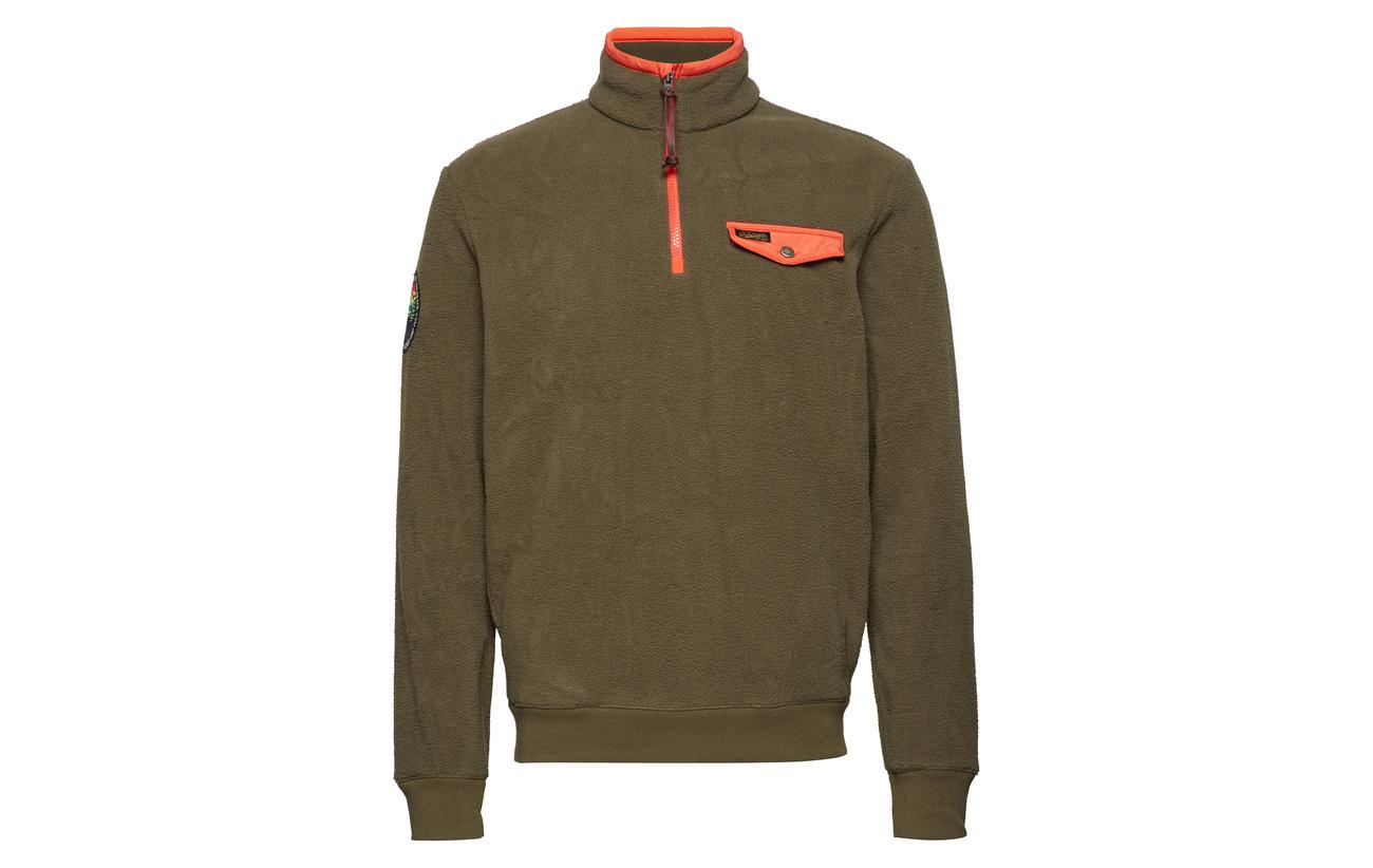 Fleece Green Pullover Polo Half Ralph Defender zip Lauren vHnqP7wU