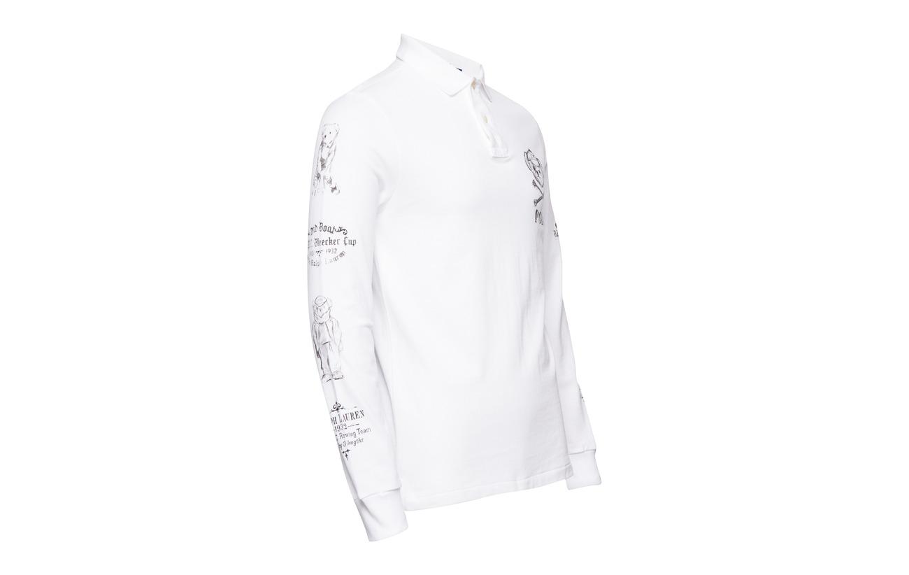 Polo Lauren Custom sleeve Classic Ralph Oxford Long Wh Slim aPpBq