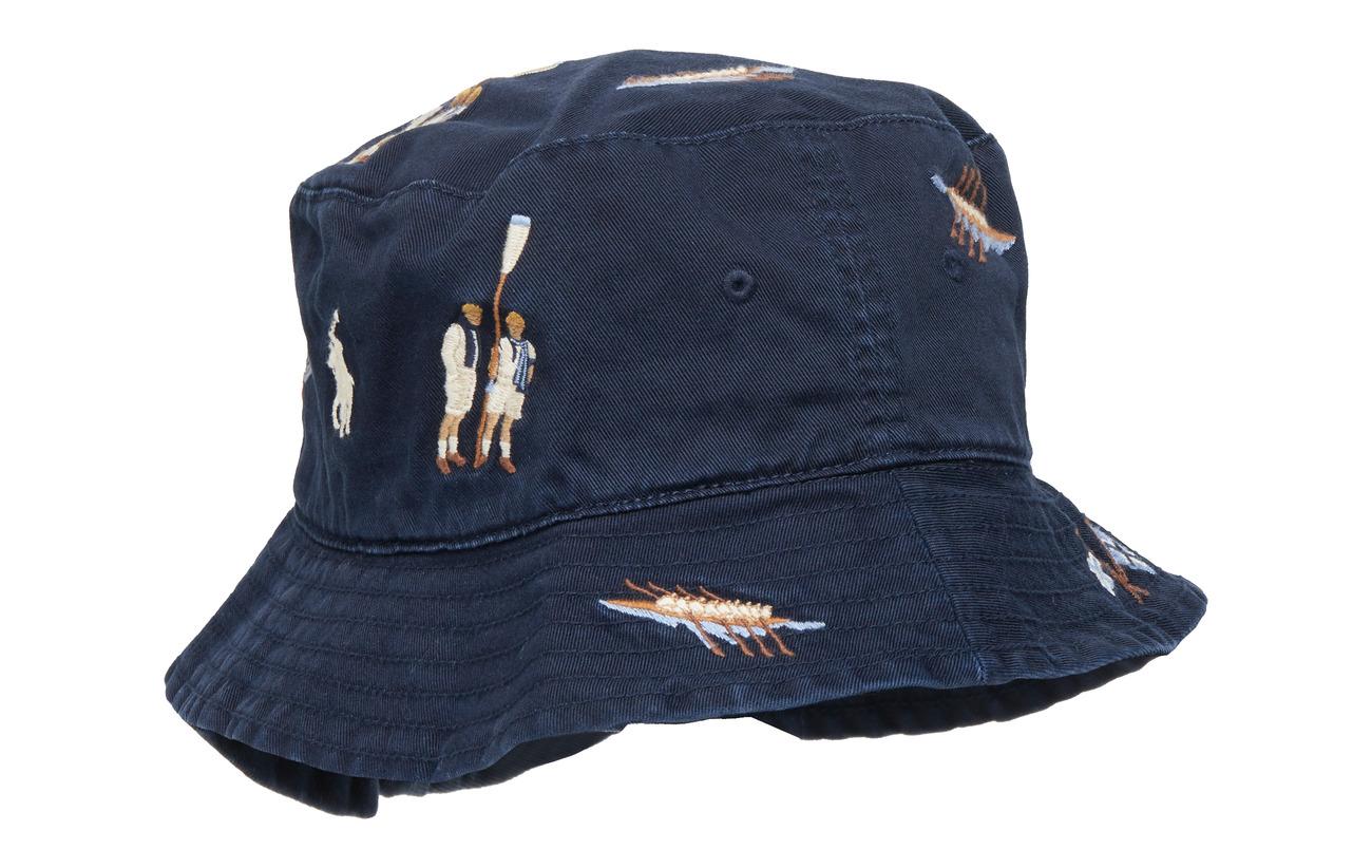 85e8f6208b2 Reversible Chino Bucket Hat (Aviator Navy W  R) (£85) - Polo Ralph ...