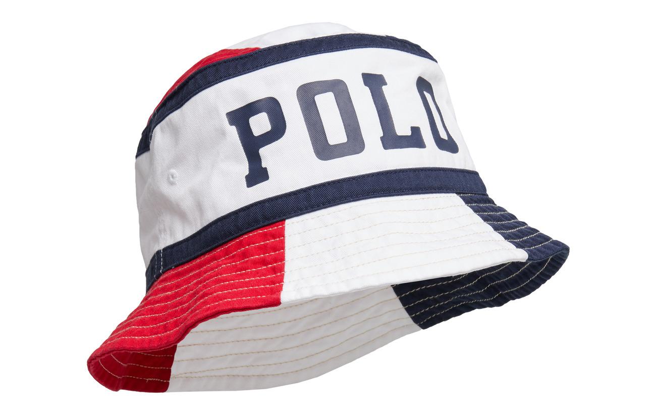 Polo Ralph Lauren Polo Cotton Twill Bucket Hat - RL 2000 RD/PR WHT