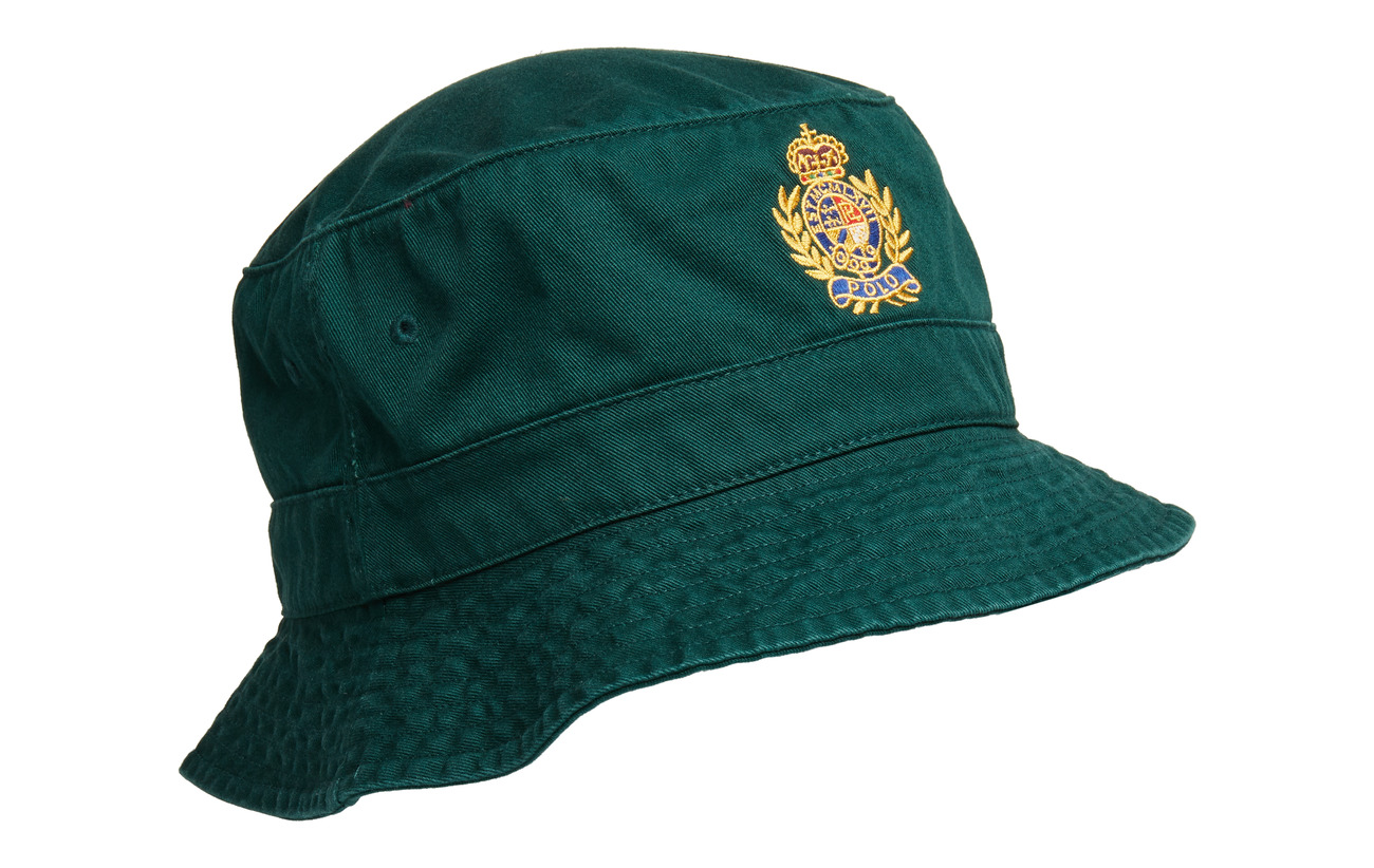 29e091be0fc28 Crest Cotton Twill Bucket Hat (College Green) (49 €) - Polo Ralph ...
