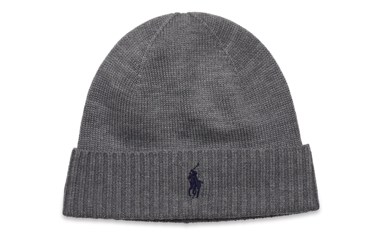 Polo Ralph Lauren Wool Signature Pony Hat - FAWN GREY HEATHER