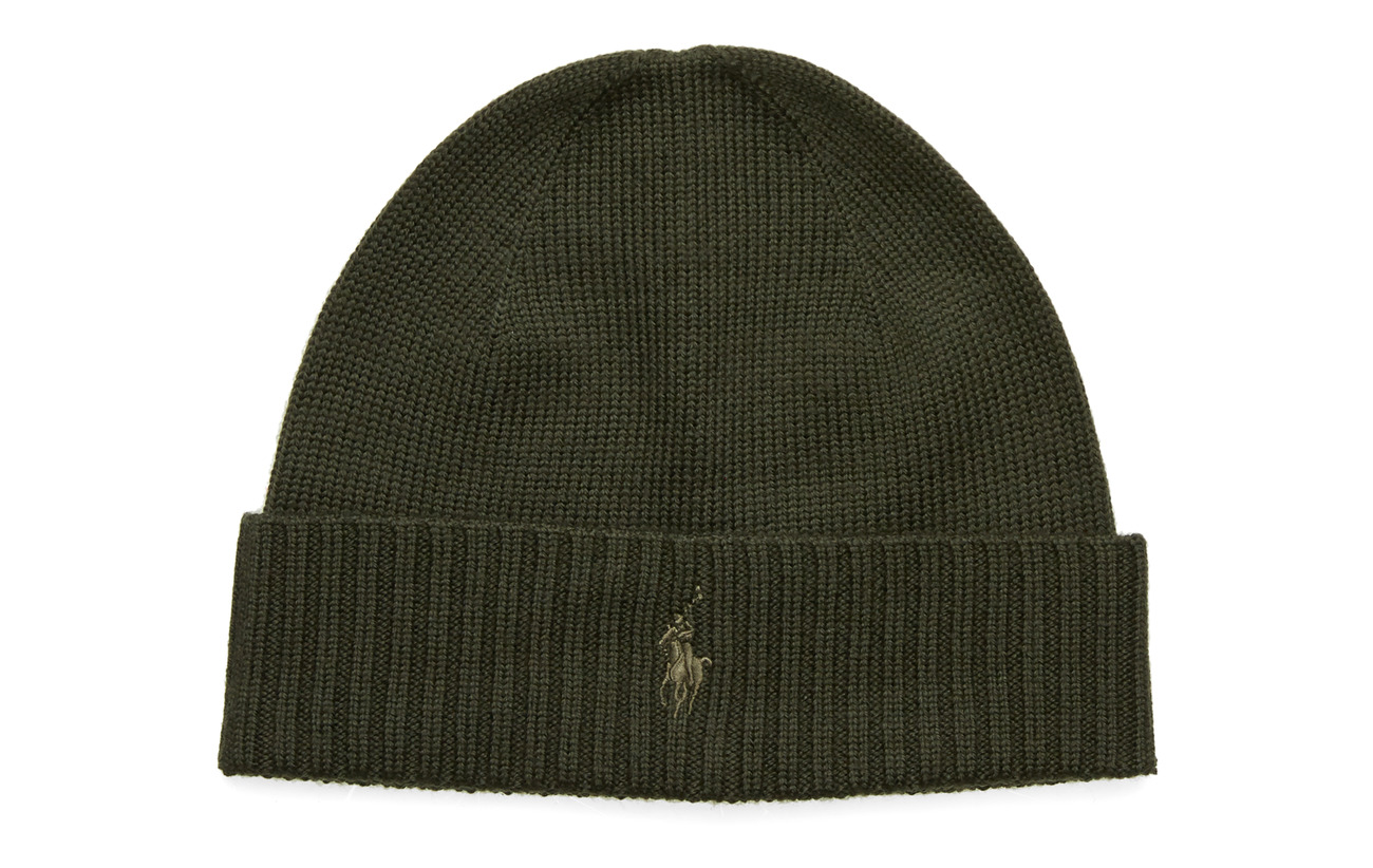 Polo Ralph Lauren Wool Signature Pony Hat - OIL CLOTH GREEN