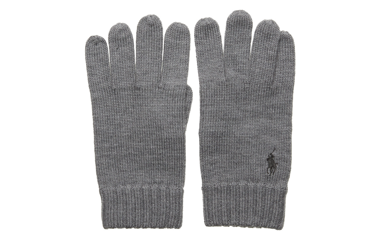 Polo Ralph Lauren Signature Pony Wool Gloves - FAWN GREY HEATHER