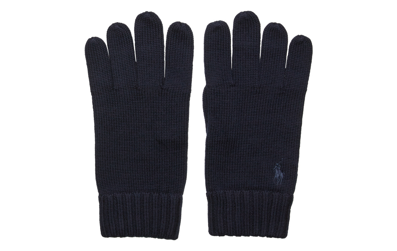 Polo Ralph Lauren Signature Pony Wool Gloves - PIPER NAVY