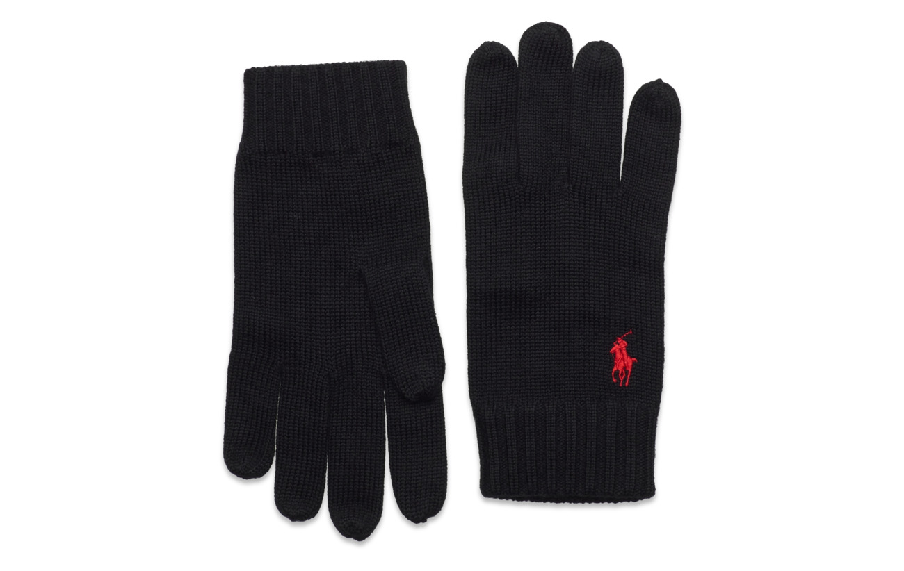 Wool Pony Glovespolo Signature BlackPolo Ralph Lauren PZOXiku