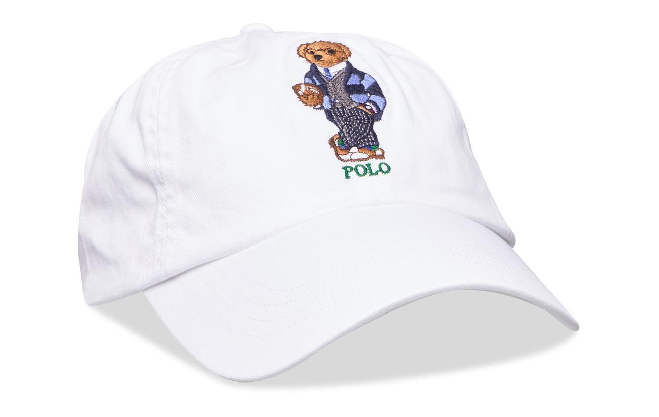 Polo Ralph Lauren Preppy Bear Chino Cap - WHITE W/ GREYS HA
